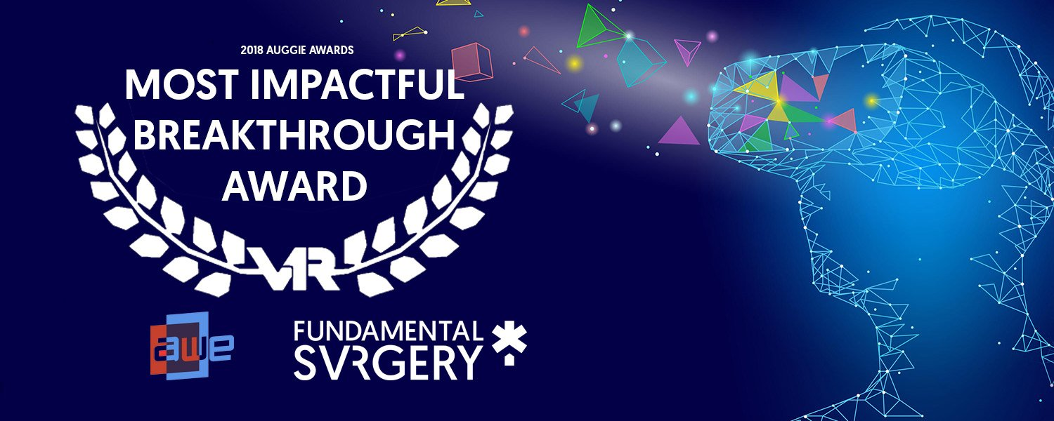 Fundamental Surgery the prestigious award for 'Most Impactful Breakthrough Award' at the Auggie Awards 2018