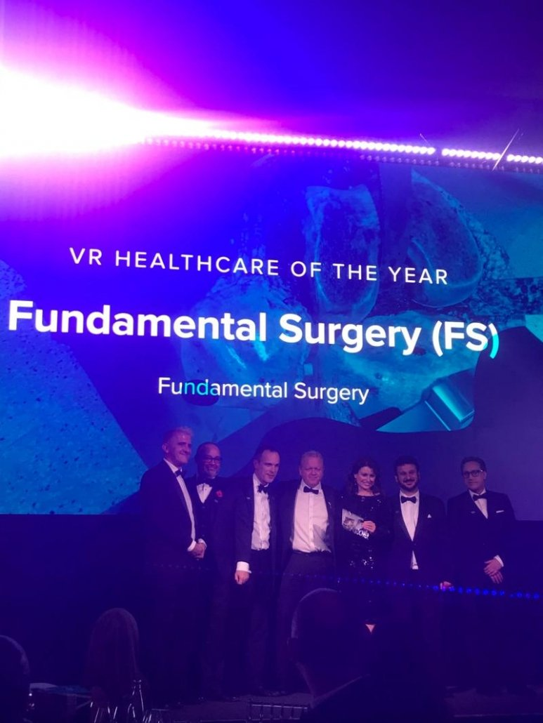 Fundamental Surgery has won the award for VR Healthcare of the Year.