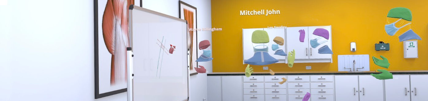 'Teaching Space' allows multiple users from anywhere in the world to come together and meet in a virtual classroom with a whiteboard to conduct interactive teaching sessions and lectures remotely.